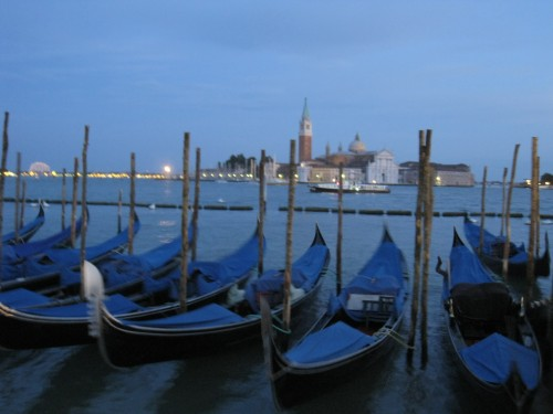 Gondolas in the evening
