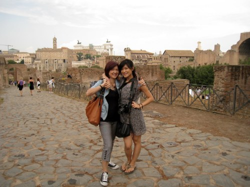 Mom & Rosie at Palatine Hill
