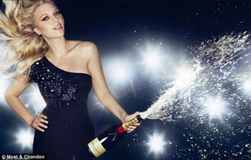 scarlette johansson for moet and chandon